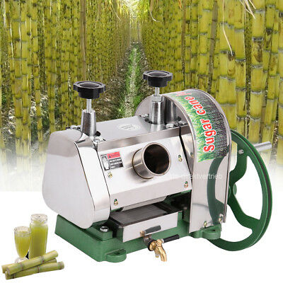 Manual Sugarcane Juicer Sugar Cane Extractor Squeezer Stanless Steel