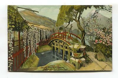 Japan-British Exhibition 1910 - Spring, The Four Seasons - old official postcard
