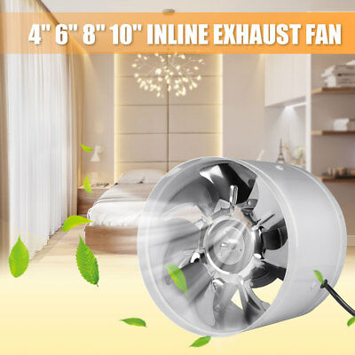 4''6''8''10'' Inch Inline Duct Fan Booster Exhaust Blower Air Cooling Vent 220V
