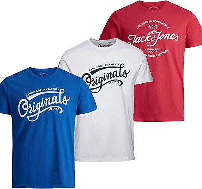 Jack&jones Mens 100% Cotton Regular Fit T-Shirts Sizes S-Xxl T Shirt