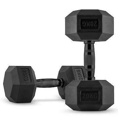CAPITAL SPORTS Hexbell Dumbbell Paire d'haltères courts 2 x 20 kg musculation