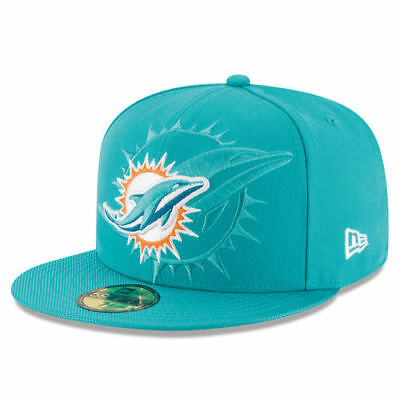 promo code b7004 efdf9 Miami Dolphins New Era 2016 Sideline Official 59FIFTY Fitted Hat - Aqua