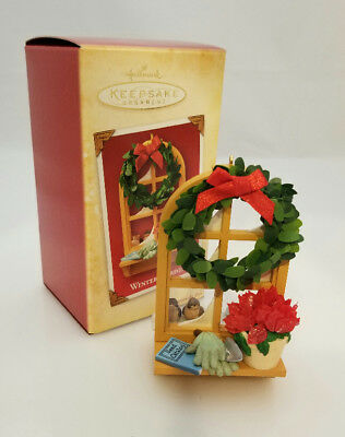 Hallmark Keepsake Ornament 2004 Winter Garden - Christmas Window - #QXG5534-SDB