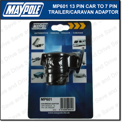 Maypole 13 Pin 7 Pin Conversion Adaptor Towing Trailer Caravan Connector MP6015