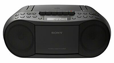 Sony Stereo CD/Cassette Boombox Home Audio Radio, MP3 MEGA BASS Black CFDS70BLK