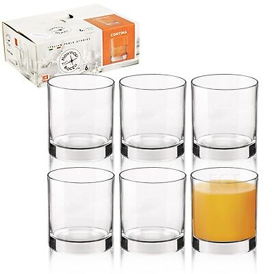Bormioli Rocco Cortina 195ml Small Short Dinner Tumbler Drinking Glasses Bar Set
