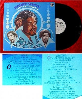 LP Barry White Cant get enough 1974