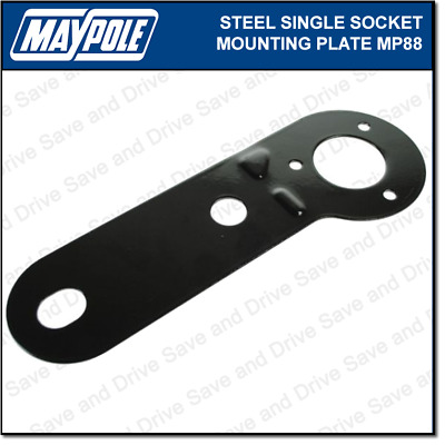 Maypole Single Socket Metal Mounting Plate Towing Trailer Caravan Towbar MP88