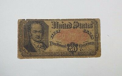 BARGAIN US Fractional Currency 50-Cent Note 5th Issue 1874-76 VERY GOOD Fr#1381