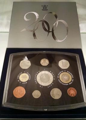 2000 Great Britain (Uk) 10 Coin Proof Mint Set