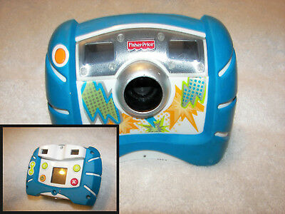 Kid Tough Digital Camera Blue  Fisher Price 2010 4X Zoom works great 500 pics