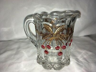 Mosser Glass Co Old Northwood 'Cherry & Cable' Glass Creamer