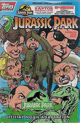 Jurassic Park Official Movie Adaption No.2 / 1993 OVP mit Trading Cards