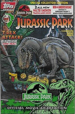 Jurassic Park Official Movie Adaption No.3 / 1993 OVP mit Trading Cards