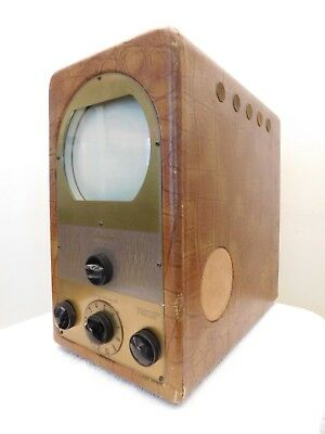 "VINTAGE 1940s OLD SILVERTONE 7"" MINIATURE MID CENTURY CLASSIC ANTIQUE TELEVISION"