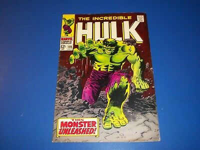 Incredible Hulk #105 Silver Age Great Classic Cover Fine/Fine+ Beauty Wow