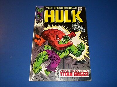 Incredible Hulk #106 Silver Age Solid Fine Wow