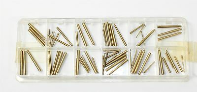 LOT of ASSORTED ROUND TAPERED PINS - BRASS - CLOCK PARTS - BX668