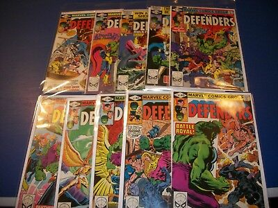 Defenders #81,82,83,84,85,86,87,88,89,90 Run of 10 FVF to VFNM Black Panther