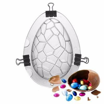 Easter Egg Shape Chocolate 3D Mold Candy Cookies Jelly Cake Decor DIY Mould H