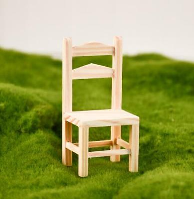 1:12 Dollhouse Miniature Furniture Wooden Chair Living Room Backrest Chair