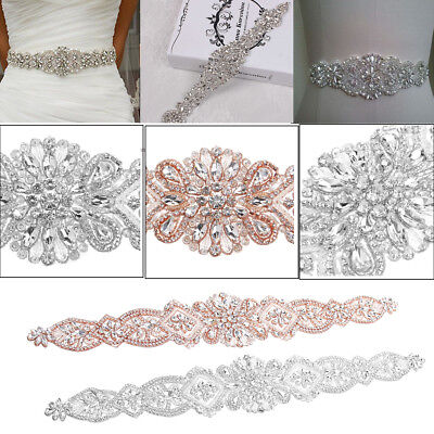 Bridal Sash Bridal Belt Fancy Wedding Dress Sash Belt Vintage Rhinestone Crystal