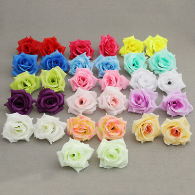 10Pcs Artificial Mini Silk Small Roses Flower Wedding Valentine Party Decor
