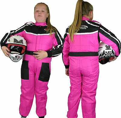GO - Kart One Piece RACE SUIT Overalls Karting Quilted Polycotton - PINK
