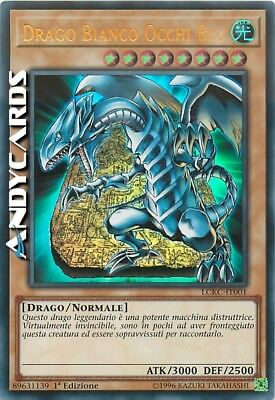 DRAGO BIANCO OCCHI BLU (ART 4) • Ultra Rara LCKC IT001 • YUGIOH ANDYCARDS