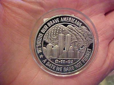 Lot 2# 6227 Silver Clad Official Freedom Medallion Of 911