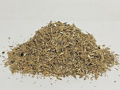 6oz Brass Shavings Turnings Orgone Scrap Metal Art Recovery Dry Fine Dust Ounces