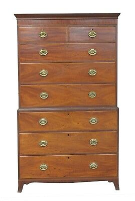 A George III Mahogany Antique Chest On Chest