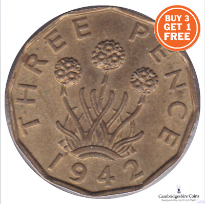 1937 - 1952 George Vi Brass Three Pence Choose Your Year Buy 3 Get 1 Free!!