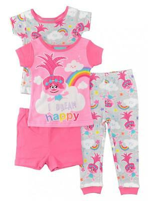 Trolls Toddler Girls 4pc Snug Fit Pajama Set Size 2T 3T 4T $42