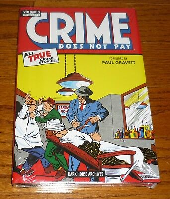 Crime Does Not Pay Archives Volume 5,WRINKLED, Dark Horse Comics hardcover, Biro