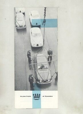 1959 Saab US 93 Factory Scenes Export Assembly Line Brochure Poster wz1042