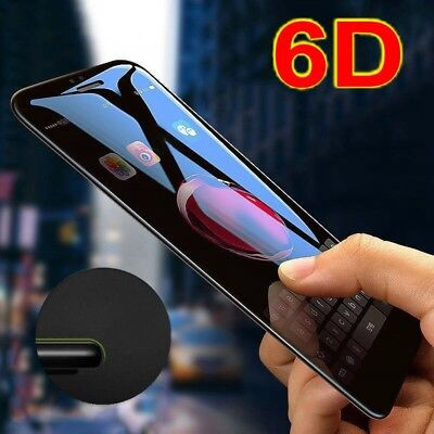 6D For Apple iPhone X Full Cover Curved Tempered Glass Film Screen Protector