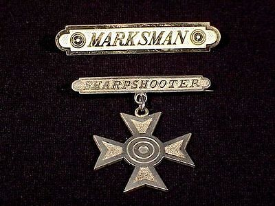 Early U.S. Army M1885 MARKSMAN & SHARPSHOOTER BADGES