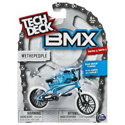 Tech Deck Bmx  Wethepeople  Series 5 Bnip Blue With White Tyres
