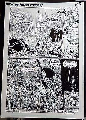 Eclipso The Darkness Within #2 Page 7 1992 Original Art-Bart Sears & Pennington