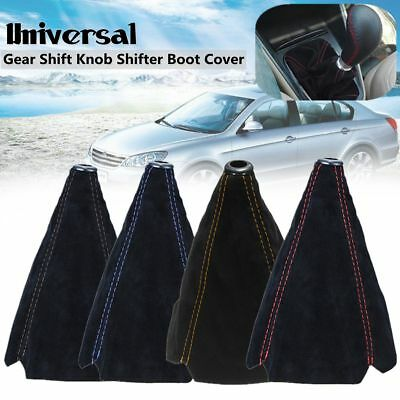 Universal Car Manual Gear Stick Shift Knob Cover Boot Gaiter W/ Suede Leather