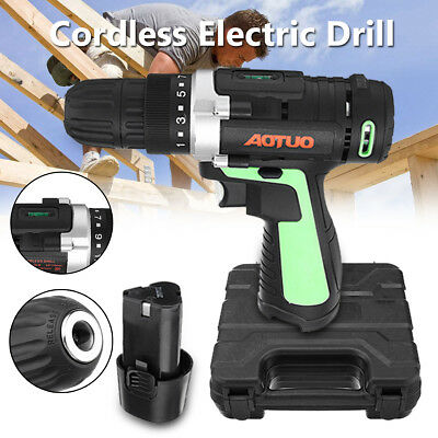 12V Li-ion Battery Rechargeable Cordless Electric Drill Screwdriver With LED