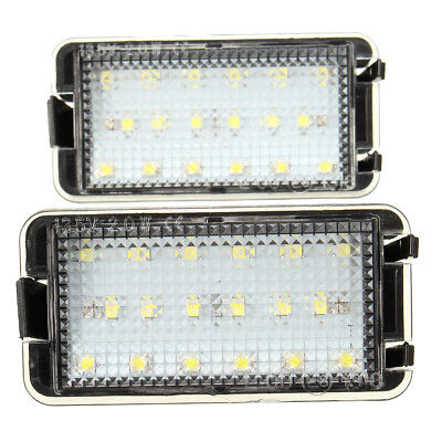 2x 18 LED Rear Licence Number Plate Light Lamp White For Seat Altea Arosa Ibiza