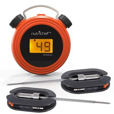Bluetooth Wireless BBQ Digital Thermometer-Stainless Dual Probes BBQ Meat Smoker