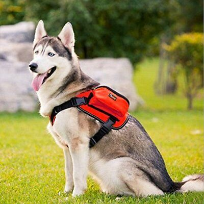 Comz Adjustable Saddle Bag Dog Backpack Carrier with Harness for Large to Xtra L