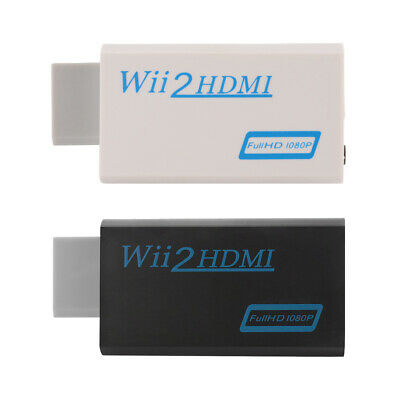 Wii to HDMI Wii2HDMI Converter Adapter Full HD 1080P 3.5mm Audio Box White/Black