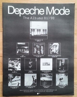 DEPECHE MODE 'The Albums 81-98' 1998 UK Poster size Press ADVERT 16x12 inches