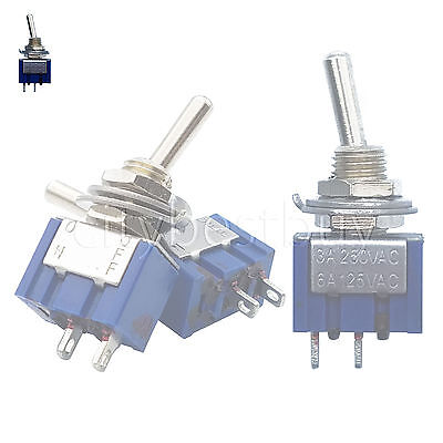1pcs mini Toggle Switches MTS-101 Single Pole Double throw ON-OFF SPST 6A Blue