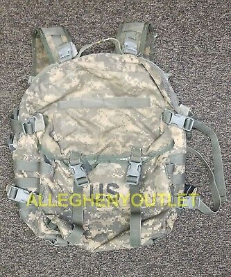 USGI US Army Military Molle 3 Day Assault Pack ACU BACKPACK w/ Stiffener Pad FC