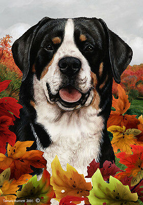 Large Indoor/Outdoor Fall Flag - Greater Swiss Mountain Dog 13144